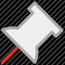 mapmarker, pin, push pin, thumbtack icon