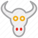animal, bull, bull head, skull of ox icon