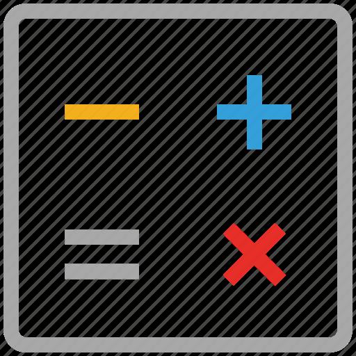 calc, calculate, calculation, math icon