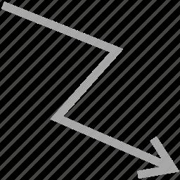 descending, descending line, down, sorting icon
