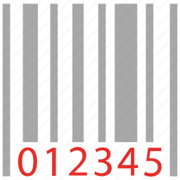 bar code, universal product code icon