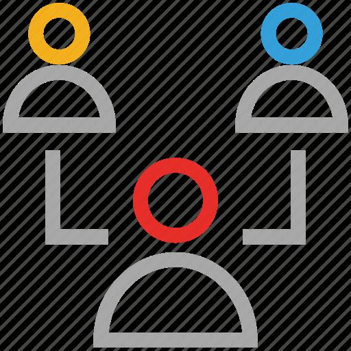 businessmen, online business, people, teamwork icon