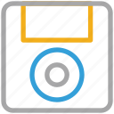 disk, diskette, floppy, floppy disk icon