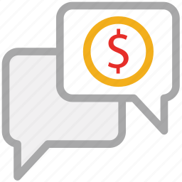 business chat, business chatting, business deal, financial chat icon