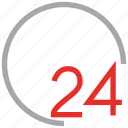 service, support, twenty four hours, work icon