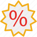 discount, offer, percentage, tag icon