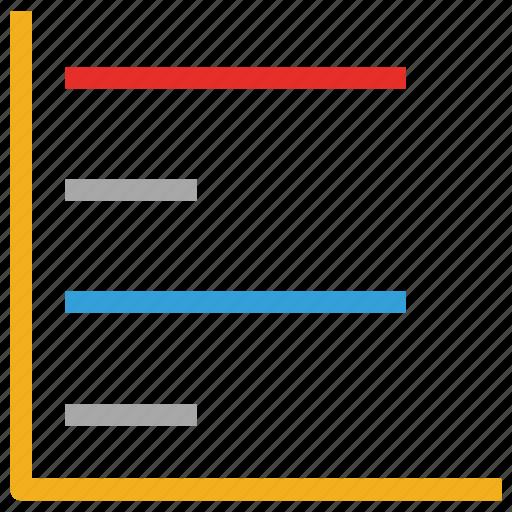 business report, horizontal graph, presentation, report icon