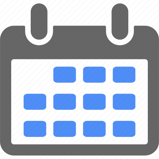 blue, calendar, date, day, month, time, year icon