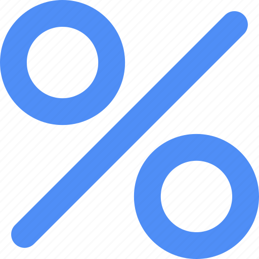 blue, percent icon