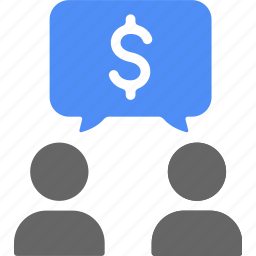 blue, business, chat, money, talk icon