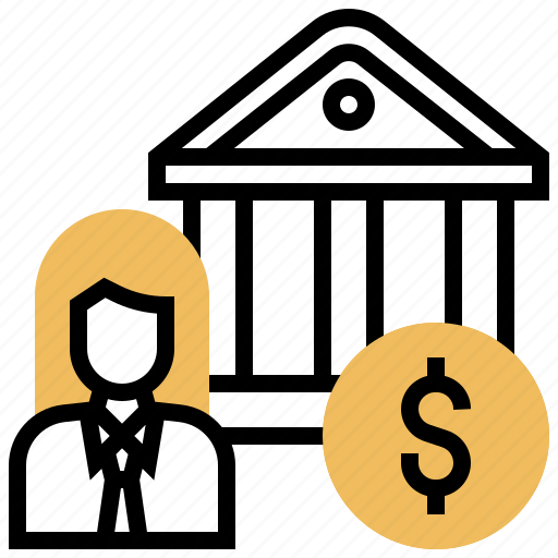 bank, dealer, financial, institution, intermediation icon