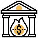 bankrupt, crisis, debt, insolvent, risk icon