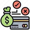 bad, credit, loans, money, payment icon
