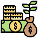 capital, cash, investment, money, reserves icon