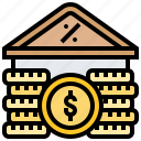 bank, charges, interest, loan, rate icon