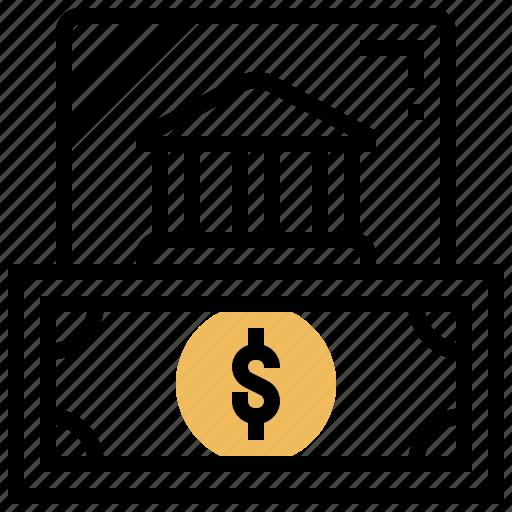 bank, bonds, cash, debt, financial icon