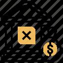 bank, debtor, loan, money, npl icon