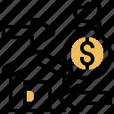 debtor, house, loan, money, refinancing icon