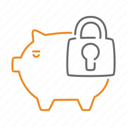 finance, money, protect, safebox, secure icon