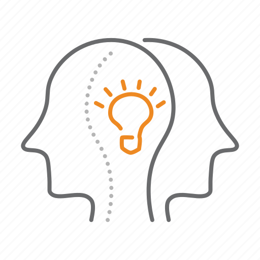 brainstorm, brainstorming, create, marketing icon