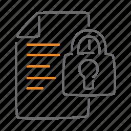 confidential, locked, padlock, protect icon