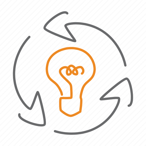 bulb, chain, electric, electricity, energy, franchise, idea icon