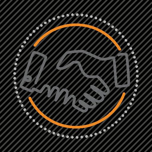 agreement, contract, deal, handshake, partnership, shake icon