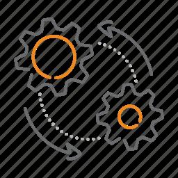 cogwheel, gear, preferences, production, wheel icon