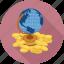 bank, money, world icon