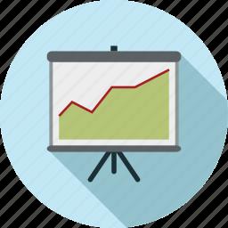 increase, presentation icon