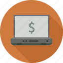 dollar, money, online icon