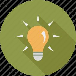 bulb, idea icon
