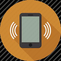 phone, vibrate icon