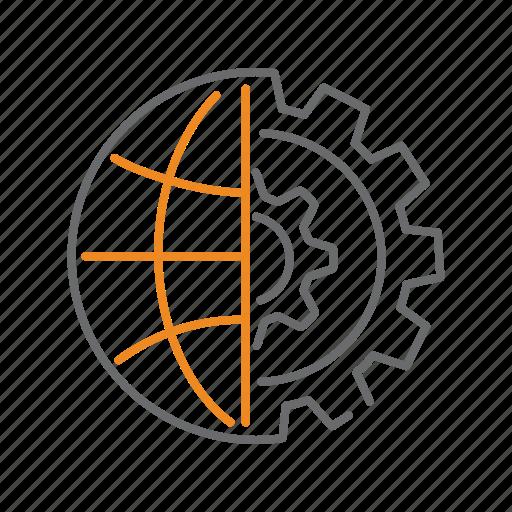 configuration, global, globe, options, settings, world icon
