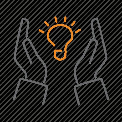 bulb, idea, patent, protect, protection, safe, shield icon