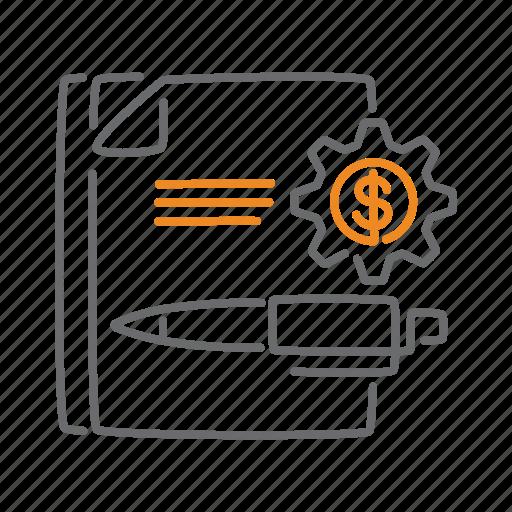 analysis, business, dollar, finance, money, report icon