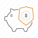 bank, dollar, safe, secure, security icon