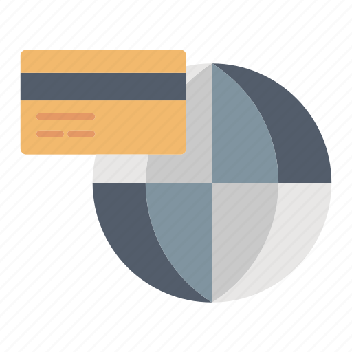 financial, global, payment, shopping icon