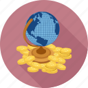 globe, money world icon