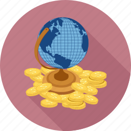 globe, money world icon