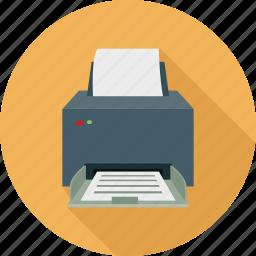 copier, copy machine, fax, printer icon