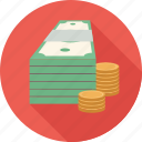 money, stack of money icon