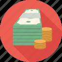 money, stack of money icon