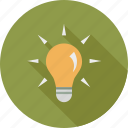 bright, bulb, idea icon