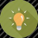 bright, bulb, idea icon