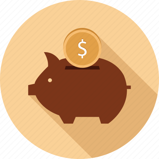 piggy bank, savings icon