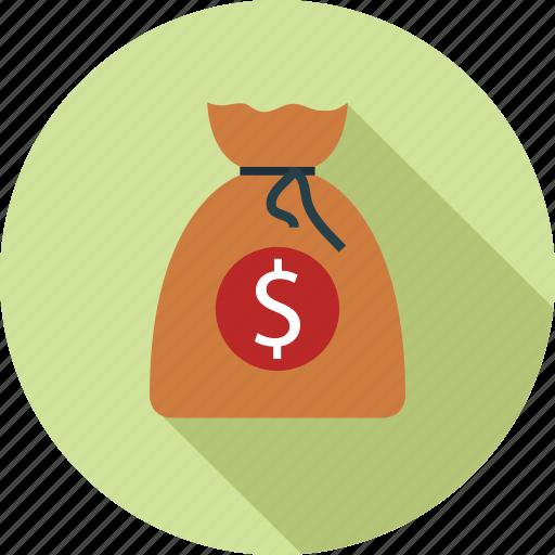 money, money bag, sack of money icon