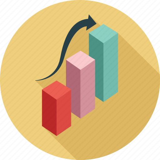 bar graph, diagram, statistics, upward trend icon