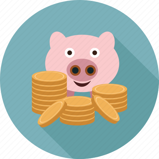 piggy bank, savings icon
