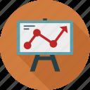 presentation, trend icon